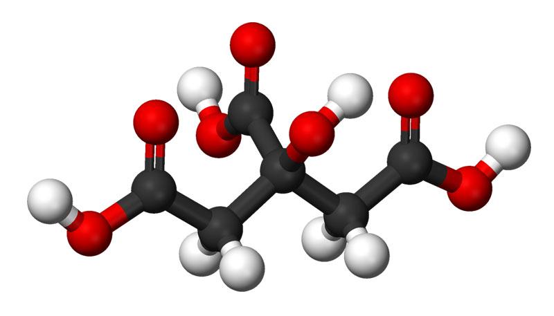ساختار اسید سیتریک