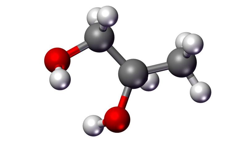 فرمول شیمیایی پروپیلن گلیکول